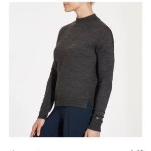 Calia Gray Effortless Mock Neck High Low Sweater S